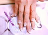 White Glitter tips