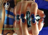 Glitter powder Nails design