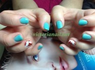 Gel manicure & Sping nail art design