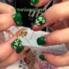 St patrick nails art design