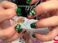 St patrick nails art design