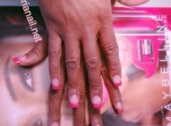 Pink French and Sparkle