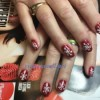 Snow Flake Gel nails design