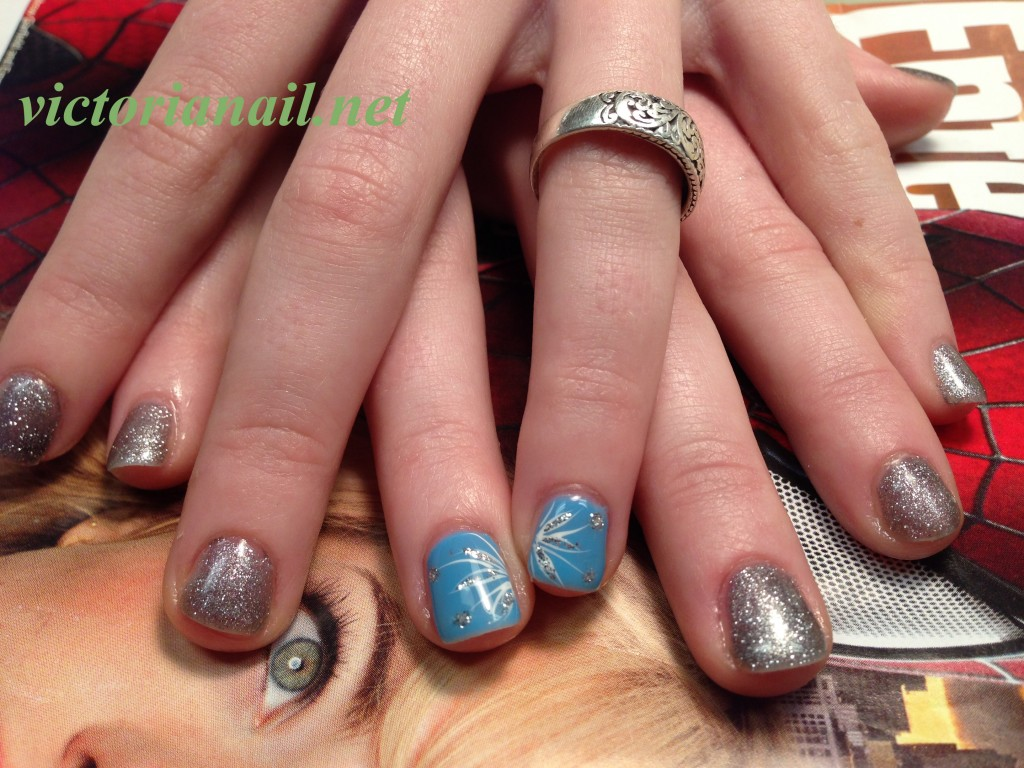 Prom Gel Nails For Blue Dress Gallery Victorianail