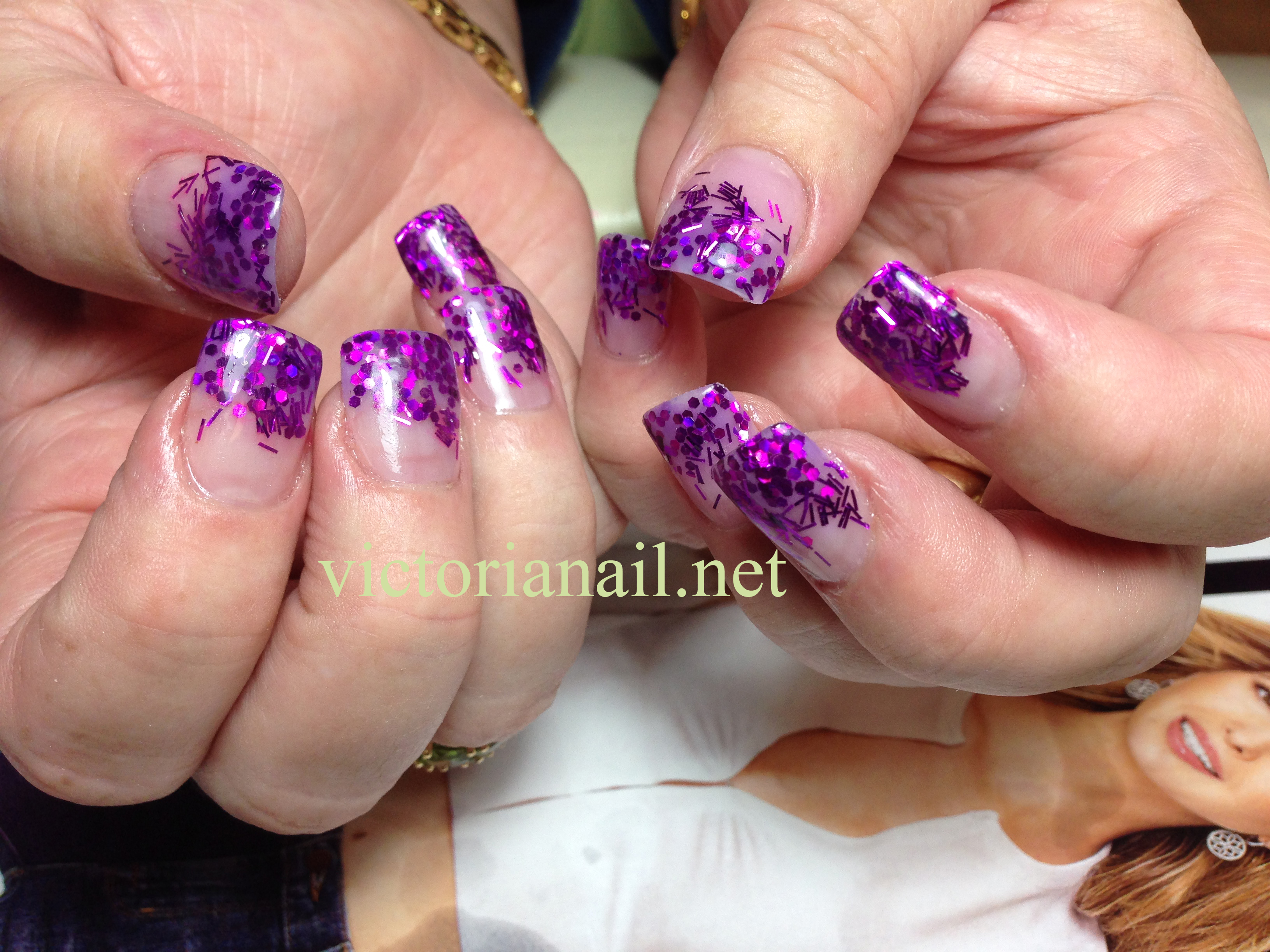 Prom Nails For Purple Dress Gallery Victorianail